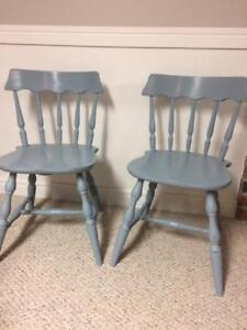 Set of two wooden chairs