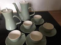 Vintage Poole Pottery Cameo Celeste Coffee