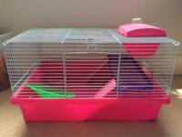 Hamster cage pink
