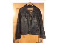 Men's large Leather Jacket (Brown)