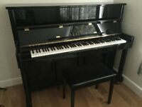 WILH.STEINMANN Black Gloss Piano and Stool