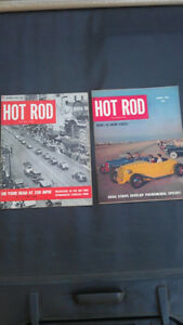 "1951 ""Hot Rod"" magazines...Last B&W to First Colour Edition."