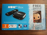 NOW TV Box with 3 Months Entertainment Pass and Game of Thrones Figure - New - £29.99
