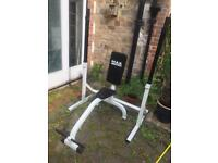 Shoulder press seated bench and rack