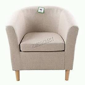 Creme tub chair