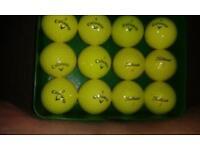 grade A yellow golf balls £1 each or 12 for £10