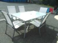 Garden table and X 5 chairs