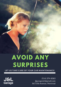 Avoid any surprises: trust your vehicle maintenance to us!