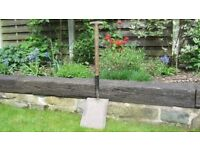 Builders or Gardeners DIY Heavy Duty Shovel with wooden T handle in good condition