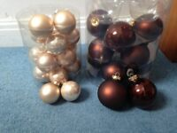 Pearl & Brown Matt/Metalic Baubles
