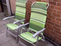 Picnic chairs ideal for caravaning