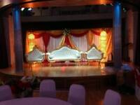 Wedding Stages, Mehndi Stages, House lighting, Chair Covers & Centrepieces For Hire
