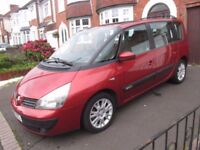 Renault Espace 2.0T Auto Red, 5 Seats Good Condition, Drives but Requires Attention