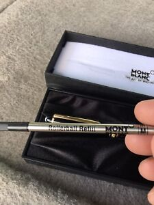 Montblanc Meisterstuck rollerball cap pen with gold accents