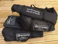 Sprayway Valley 4 frame tent with front extension and ground sheet protector