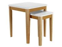Hygena Skye Nest of 2 Tables - White