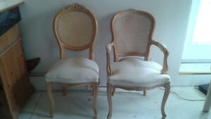 8 Pickled Pine Dining Room Chairs