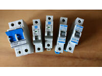 MCBs and 100amp breaker CED GET and VOLEX brands - £2 each