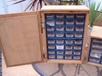 Wooden organiser for screws etc x 2