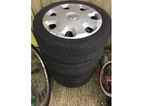 """4x100 15"""" steel wheels"""