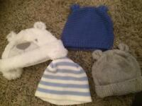 Baby hats- gap & next 0-6 months