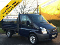 2013/ 63 Ford Transit 100 T300s Dropside+Tailift 10ft Alloy body SRW