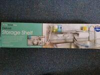 New sink storage shelf