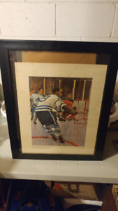 Toronto maple leafs framed picture