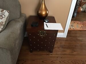 Wilson home. Side table matching pair