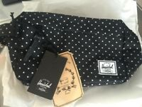 Hershel Pouch Navy & White Dots - Brand New Condition -65%