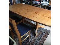 Extendable Dining Table (and Chairs)