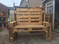 2 seater pallet chair