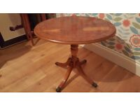 Reproduction yew coffee table