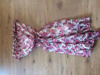 Ladies raspberry dress