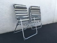 Two matching deck chairs
