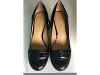 Nine West Patent Black Heels With Box Womens Size 4
