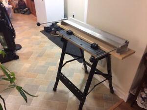 Portable Press Brake with folding worktable/stand-sheet metal