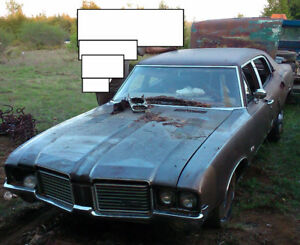 1972 Oldsmobile Cutlass for parts