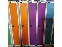 Probe clothes locker in purple. Single door.