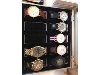 Job lot of men's watches.