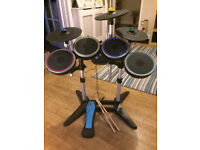 Wii Rock Band Drum Kit with Drumsticks