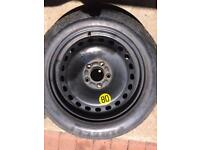 "Ford 5 stud space saver 16"""" wheel"