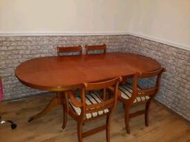 Antique Dinner table and chairs