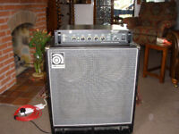 Ampeg B500DR with B410HLF Cabinet. Pro-level programmable 350/500 Watt rig in full working order