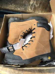NEW MENS STEEL TOED WORK BOOTS   SZ.12