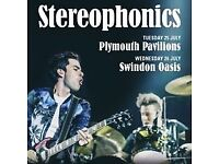 Stereophonics' Tickets x 2 - Concert 7pm on 25 July 2017 at Plymouth Pavillions