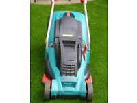 Bosch Rotack 40 electric lawnmower,7 cutting heights,16 inch cutting blade +new blade