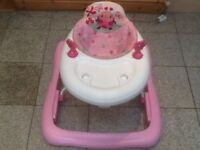 Baby walker in excellent condition-padded fabric seat is removable and has been washed-£10
