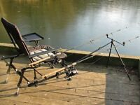 Cyprinus fishing chair with table and rod rest