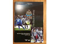 NEWCASTLE V BOLTON SIGNED PROGRAMME